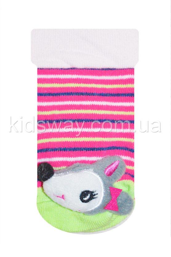 Носки с игрушкой погремушкой «Мышка» (9-10 см)