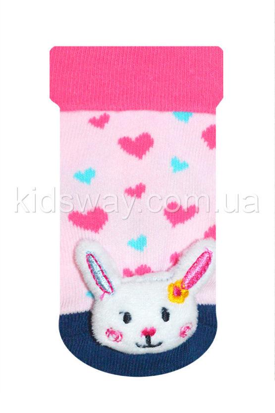 Носки с игрушкой погремушкой «Зайчишка» (9-10 см)