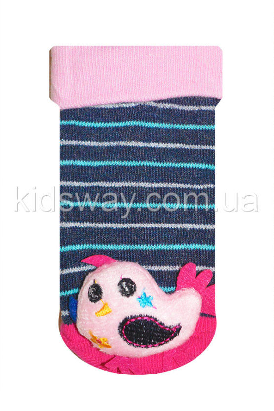 Носки с игрушкой погремушкой «Птичка-2» (9-10 см)