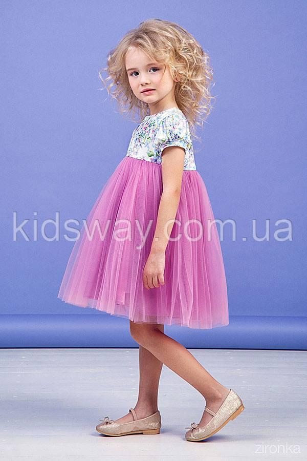848f4bd457e5bca Платье для девочки «Весна», сиреневое ( 98, 104, 110)