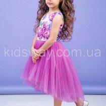 Платье для девочки «Пион», лиловое ( 116, 122)