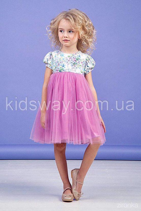 Платье для девочки «Весна», сиреневое ( 98, 104, 110)