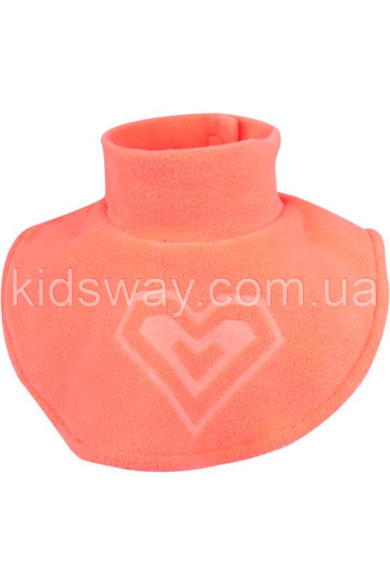 Горловина манишка детская, флис-полар (оранжевая)