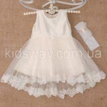Платье «Жасмін», молочное (98 р-р)