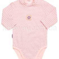 Боди-гольф с длинным рукавом, розовый персик