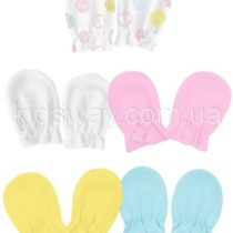 Царапки, рукавички для новорожденных, ажурный трикотаж «в дырочку»