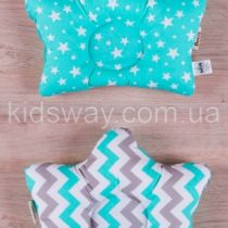 Ортопедическая подушка «Звездочка» для детей с 1 месяца до 2-х лет (салатовая)
