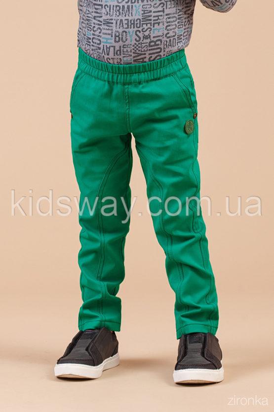Брюки коттоновые для мальчика, зеленые