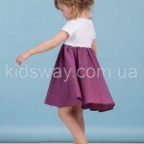 Платье свободного кроя для девочки, коралл