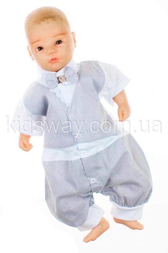 Боди-песочник для мальчика «Сеньор», серый