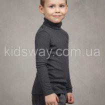 Гольф водолазка теплая, для мальчика, т.серый