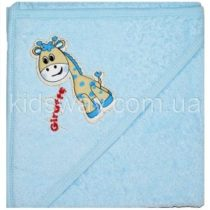 Полотенце уголок для купания, голубой