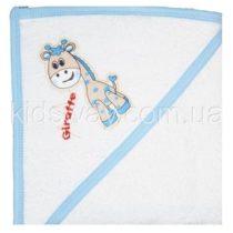 Полотенце уголок для купания, бело-голубой