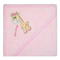 Полотенце уголок для купания, розовый