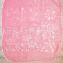 Плед детский 105*120 см, розовый