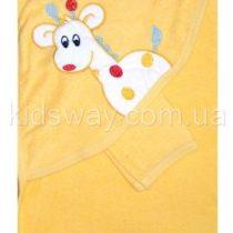 Полотенце уголок для купания «Жираф», желтое