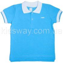 Футболка-поло, тенниска для мальчика, голубая