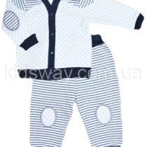 Комплект из капитона: штаны и кофта, синяя полоска