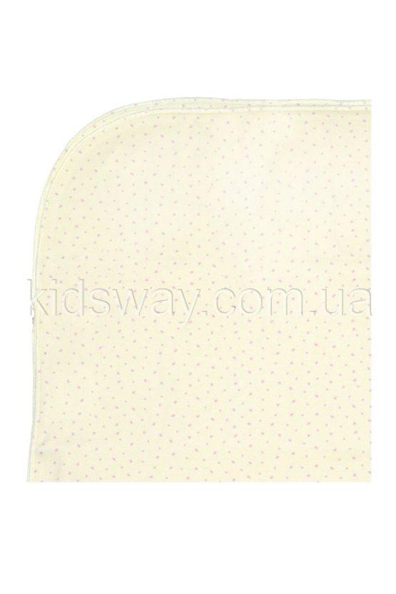 Пеленка, интерлок с начесом, 100*110 см, кремовая
