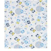 Пеленка — простынка из кулира, 120*90 см, голубая