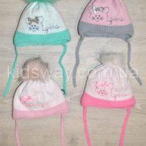 Зимняя вязанная шапка на утеплителе Softi Term, для новорожденных «Кися»