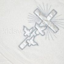 Крыжма махровая «Голубки» серебро