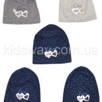 Трикотажная шапка для девочки «Love» (46-48, 50-52)