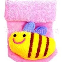 Носки махровые с игрушкой погремушкой