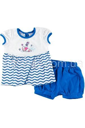 Комплект для девочки: футболка и шорты «Море»