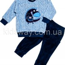 Комплект из велюра для мальчика: кофта и штаны