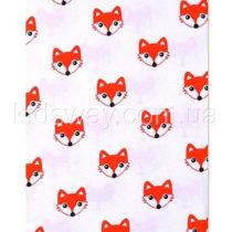 Пеленка детская теплая, байка, «Рыжие лисички» (110*90 см)