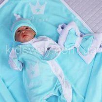 Комплект для новорожденного на выписку 4в1 «Prince», ментоловый