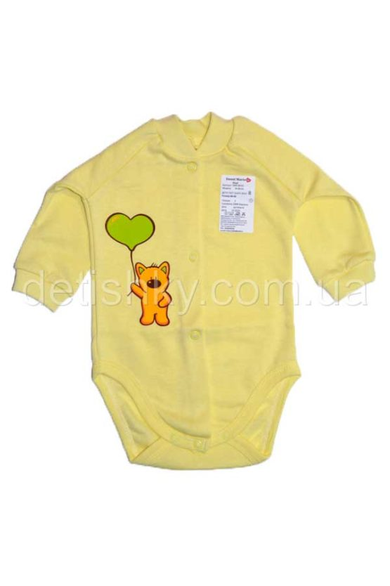 Боди «Котенок» желтый, футер