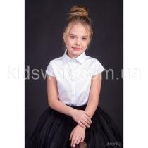 Блузка-рубашка с коротким рукавом для девочки «Классик»