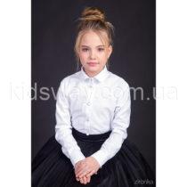 Блузка-рубашка с длинным рукавом для девочки «Классик»