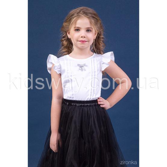 Блузка с рукавом-крылышком для девочки «Жасмин»