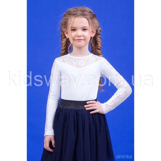 Блузка для девочки с кружевными вставками «Алисия»