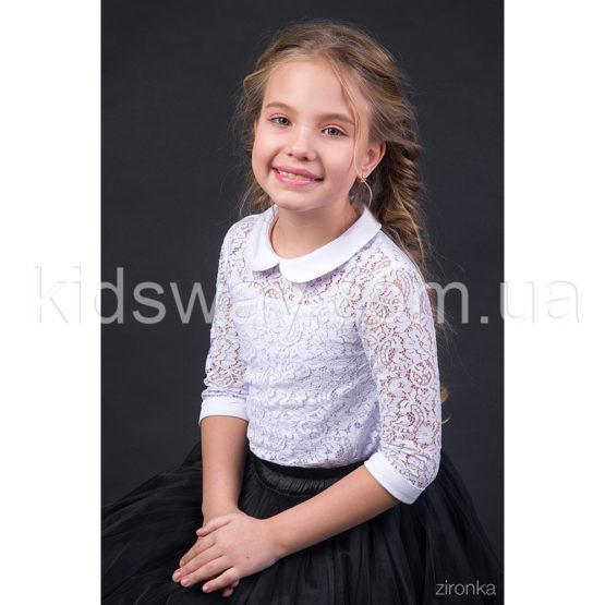 Блузка из гипюра для девочки «Флора»