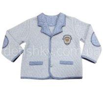 Пиджак для мальчика, капитон, серый