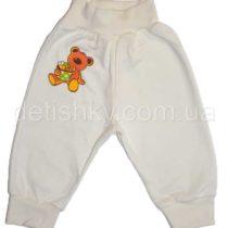 Штаны для новорожденных, футер, белые