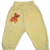 Штаны для новорожденных, футер, желтые