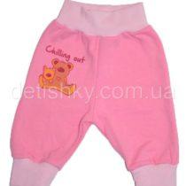 Штаны для новорожденных, футер, розовые