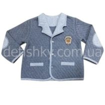 Пиджак для мальчика, капитон, темно-серый