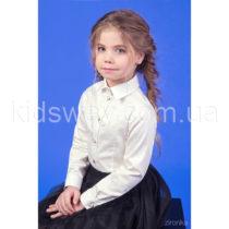 Блузка-рубашка с длинным рукавом для девочки «Жемчуг», айвори