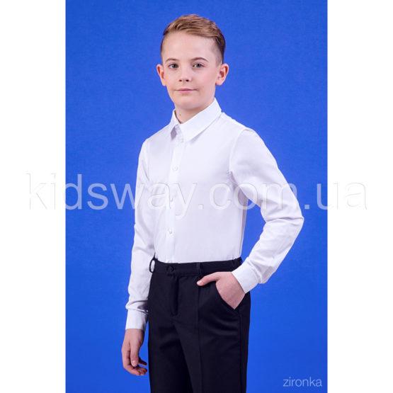 Рубашка с длинным рукавом для мальчика «Классик», белая
