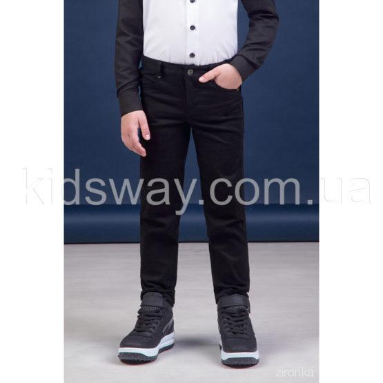 Брюки коттоновые, джинсы для мальчика «Классик», черные