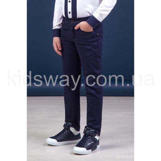 Брюки коттоновые, джинсы для мальчика «Классик», синие